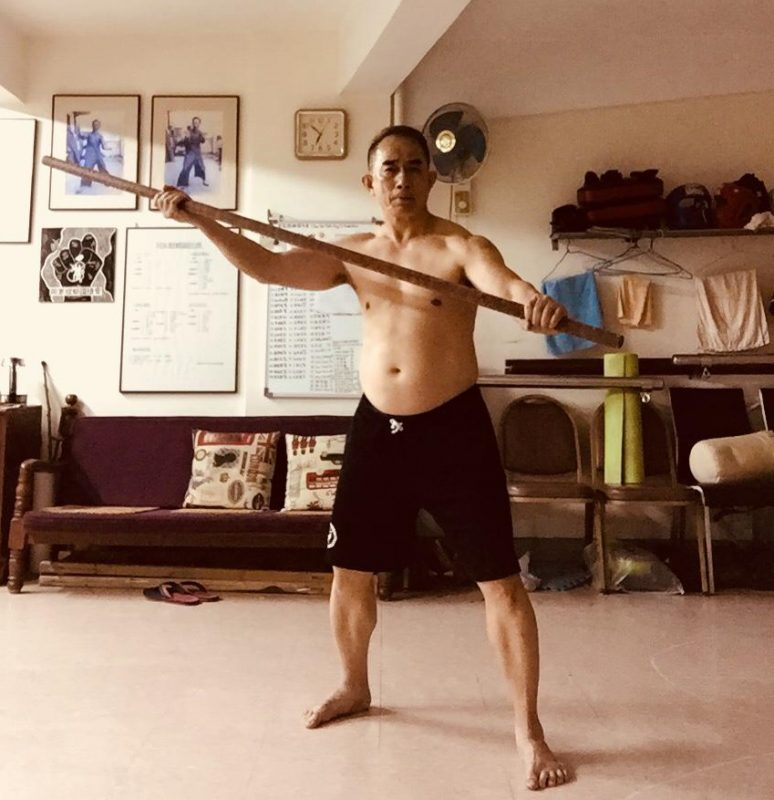 Sifu Hang Ng Long Pole Exercise